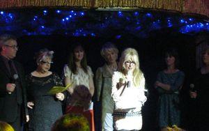 Judges on stage
