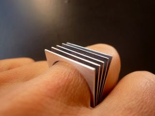 Silver-book-ring