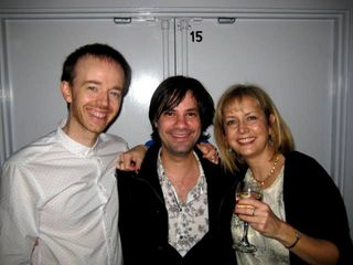 Louise Voss and Mark Edwards with their agent, Sam Copland