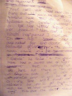 Notebookwriting