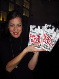 Cesca Martin with the book, Catch Your Death