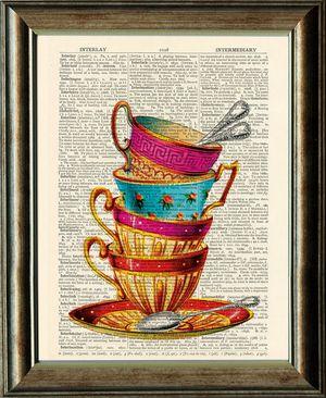 Teacup book print