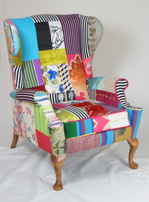 Kelly Swallow Patchwork Armchair