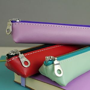 Colourful Leather Pencil Cases