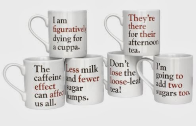 Grammar Mugs from The Literary Gift Company