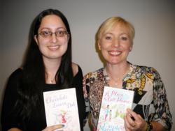 Zarina with Carole Matthews