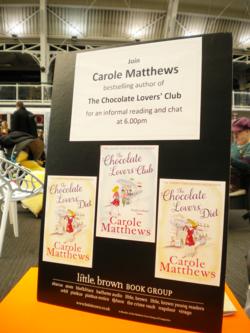 Carole Matthews at the Chocolate Festival