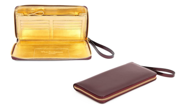 A Gold Lined Designer Clutch from Pomello