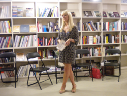 Lucy Robinson at the Launch of The Unfinished Symphony of You and Me
