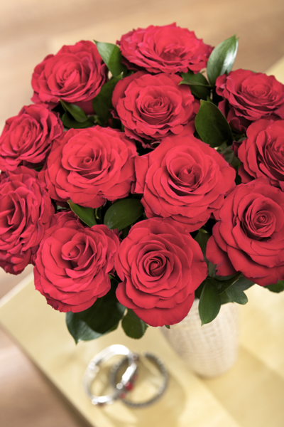Bouquet of Red Roses from Bunches