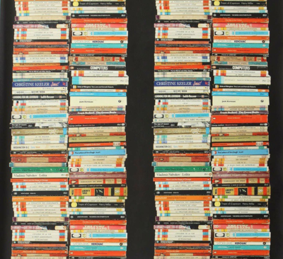 Stacked Book Anthropologie Wallpaper