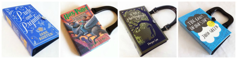 Repurposed Book Bag Novel Creations