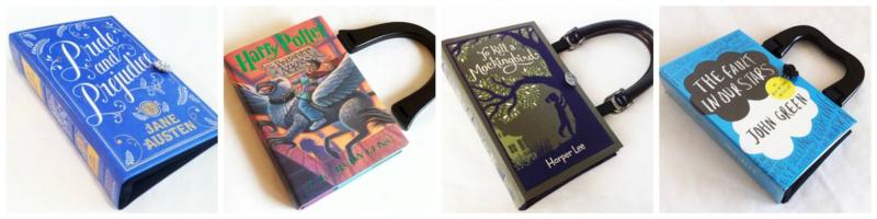 Repurposed Book Bag Novel Creations