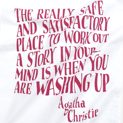 Agatha Christie Tea Towel