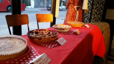 Pie Bake Off in London for The Grand Reopening of Dandelion Cafe by Jenny Oliver