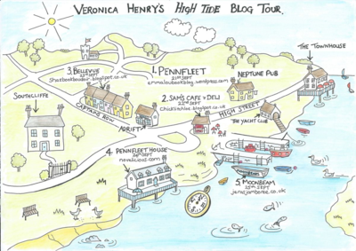 Penfleet Map from High Tide by Veronica Henry