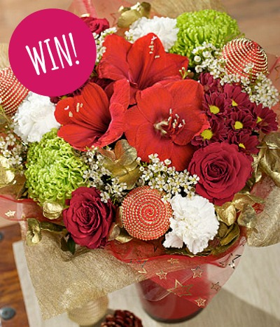 Crimson Sparkle Bouquet from Bunches.co.uk