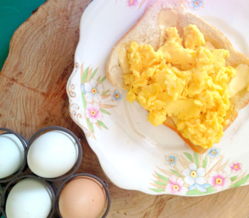 Buttery Scrambled Eggs from Appleby Farm by Cathy Bramley